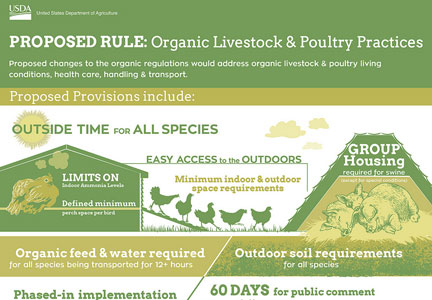USDA proposed organic production rule changes infographic