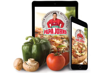 Customers of Papa John's can place orders through Facebook.