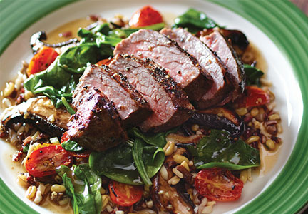 Applebees pepper-crusted sirloin
