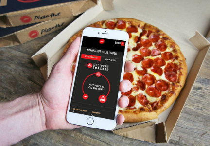 Pizza Hut delivery tracker