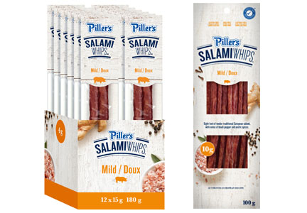 Piller's Salami Whips in packages