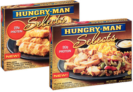 Pinnacle Foods expanded its Hungry-Man lineup to include more premium varieties.
