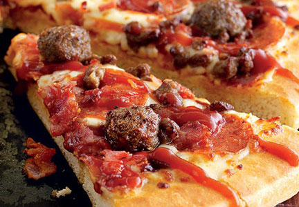 Pizza Hut meatball pizza