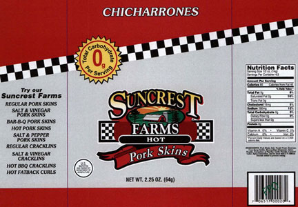 The Pork Rind Factory recalled more than 18,000 lbs. of products.