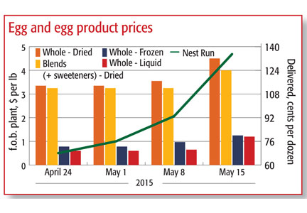 Graphic of egg prices
