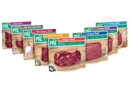 PRE beef products line
