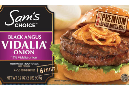 Sam's Choice Black Angus Vidalia Onion beef patties
