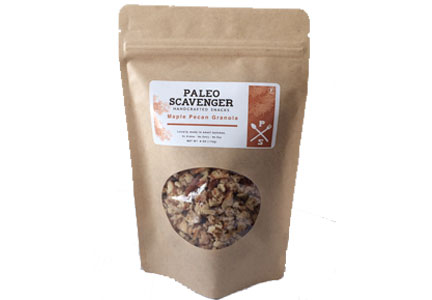 Paleo Scavenger granola, satisfies the dietary requirements of both Paleo and vegan lifestyles.