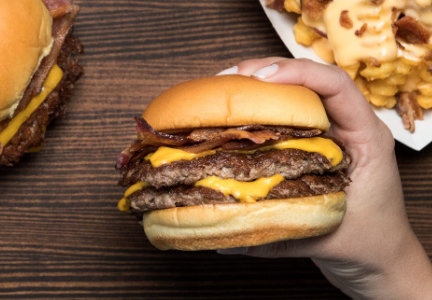 Shake Shack bacon burgers and bacon cheese fries