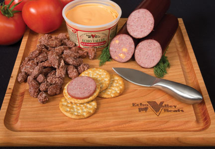 Echo Valley Meats offers an array of products, including  smoked brisket, summer sausage and spiral-sliced hams.