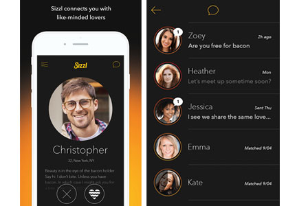 Oscar Mayer's dating app Sizzl matches couples based on their preferences for bacon.