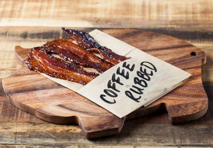 Saint Marc Cafe coffee-rubbed bacon