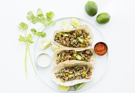 Snap Kitchen brisket tacos