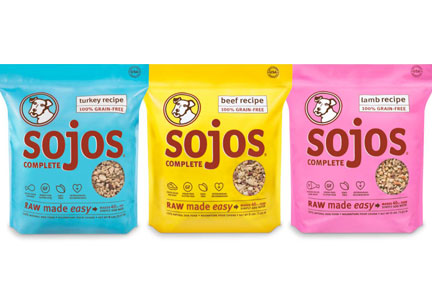 Sojo's Complete raw pet food products