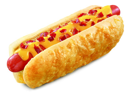 Sonic cheese and bacon hot dog