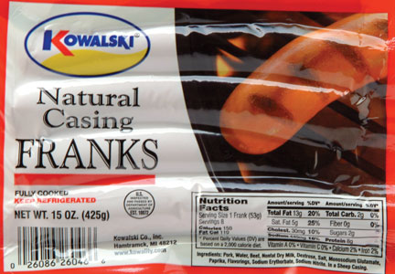 Kowalski Natural Casing Franks