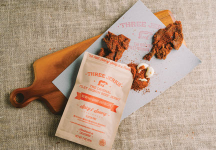 Memphis Brand BBQ Recipe is one of five flavors of Three Jerks Jerky.