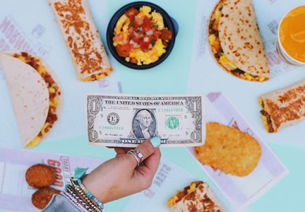 Taco Bell has launched a $1 Morning Value Menu