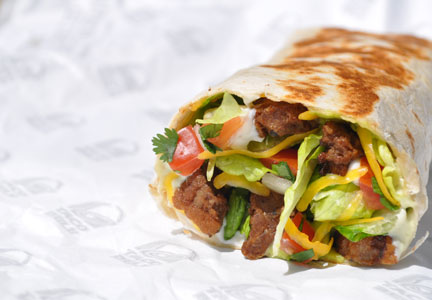 Taco Bell beef crunch wrap