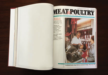 1980s edition of Meat&Poultry magazine