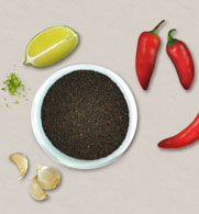 Chia seed with citrus and chilies