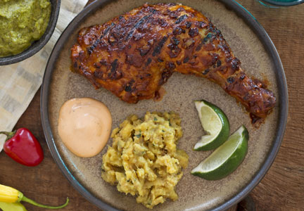 Peruvian chicken with chili and lime