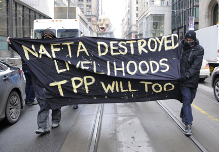 Opponents of the Trans-Pacific Partnership are speaking out.