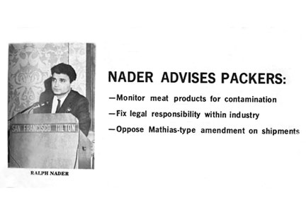 Picture of Ralph Nader that appeared in Western Meat Industry, April 1971