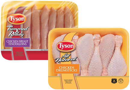 Tyson Foods raw chicken