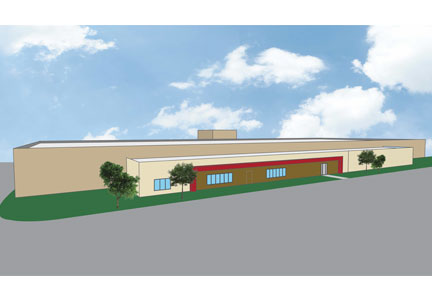 Rendering of Tyson Foods incubation center