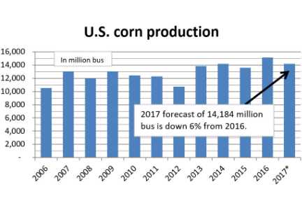 North Dakota soybean production up, corn down""