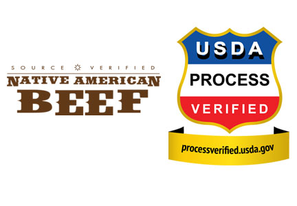 USDA Process Verified and Native American Source Verified labels