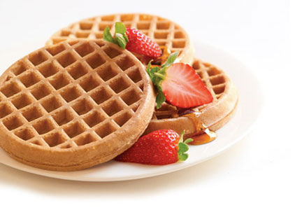 Van's waffles with strawberries