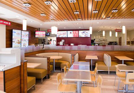Wendy's has embraced a contemporary design for new and remodeled restaurants.