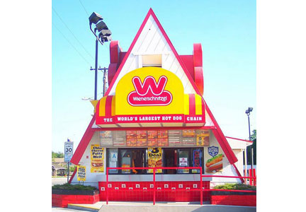 Wienerschnitzel restaurants of the past used to span 2,500 sq. ft.