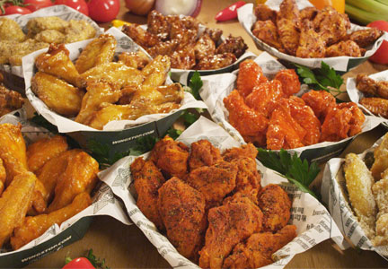 10 flavors of Wingstop chicken wings