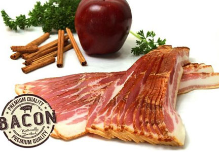 Woods Smokehouse apple-cinnamon bacon